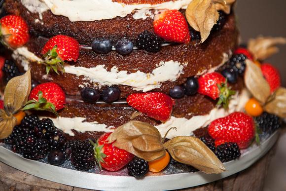Beautiful home made wedding cake