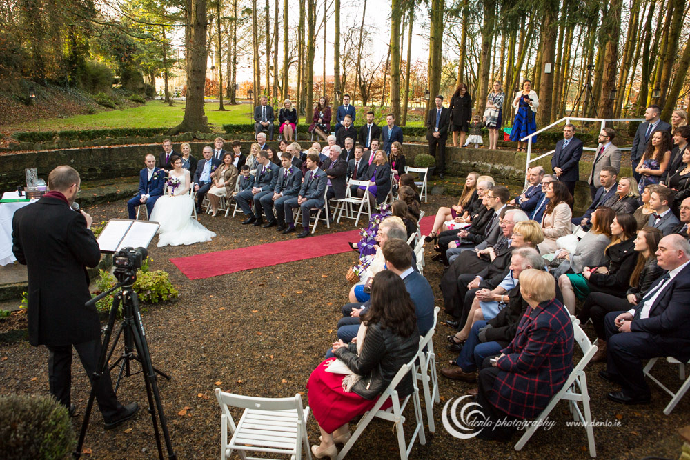 Outdoor wedding ceremony at Stationhouse Hotel-0244