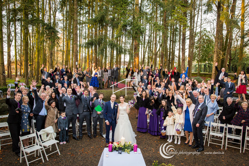 Outdoor wedding ceremony at Stationhouse Hotel-8972