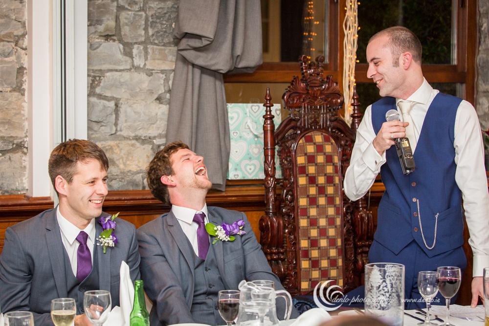 Wedding speeches at Stationhouse Hotel-3393