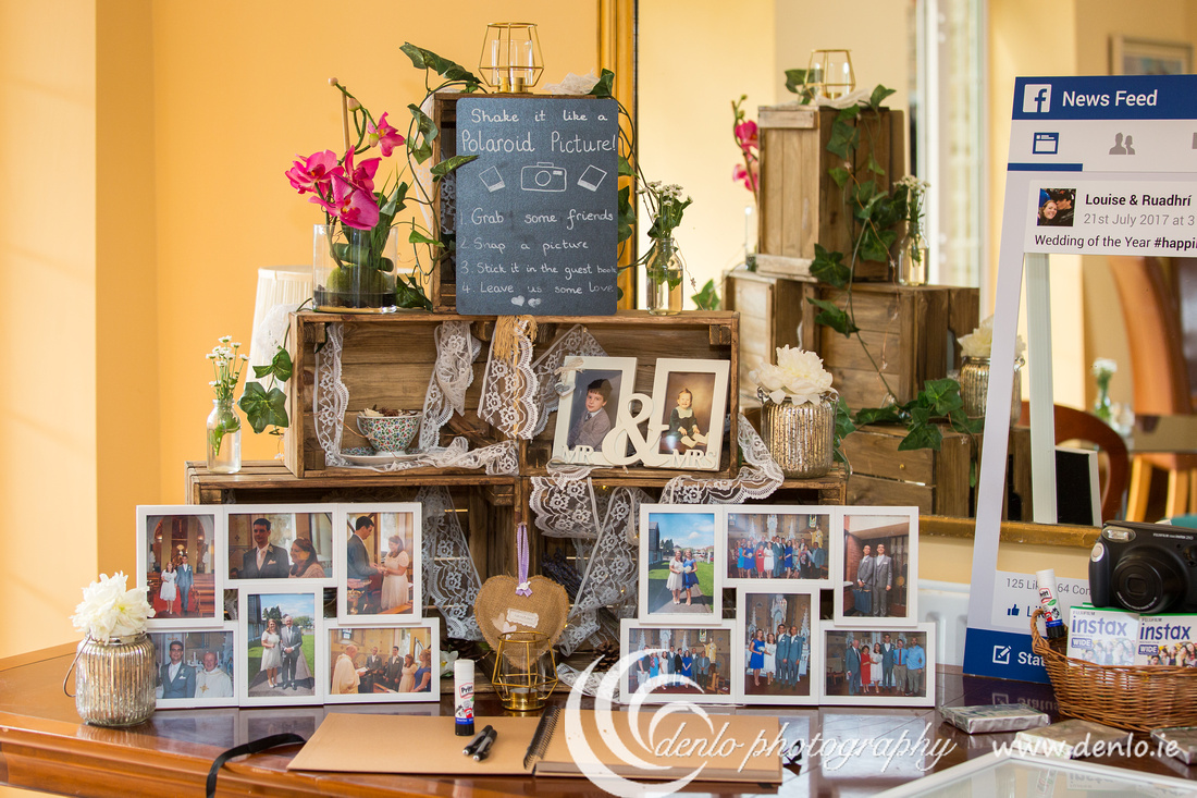 Lots of photos to welcome the guests at Boyne Hill House