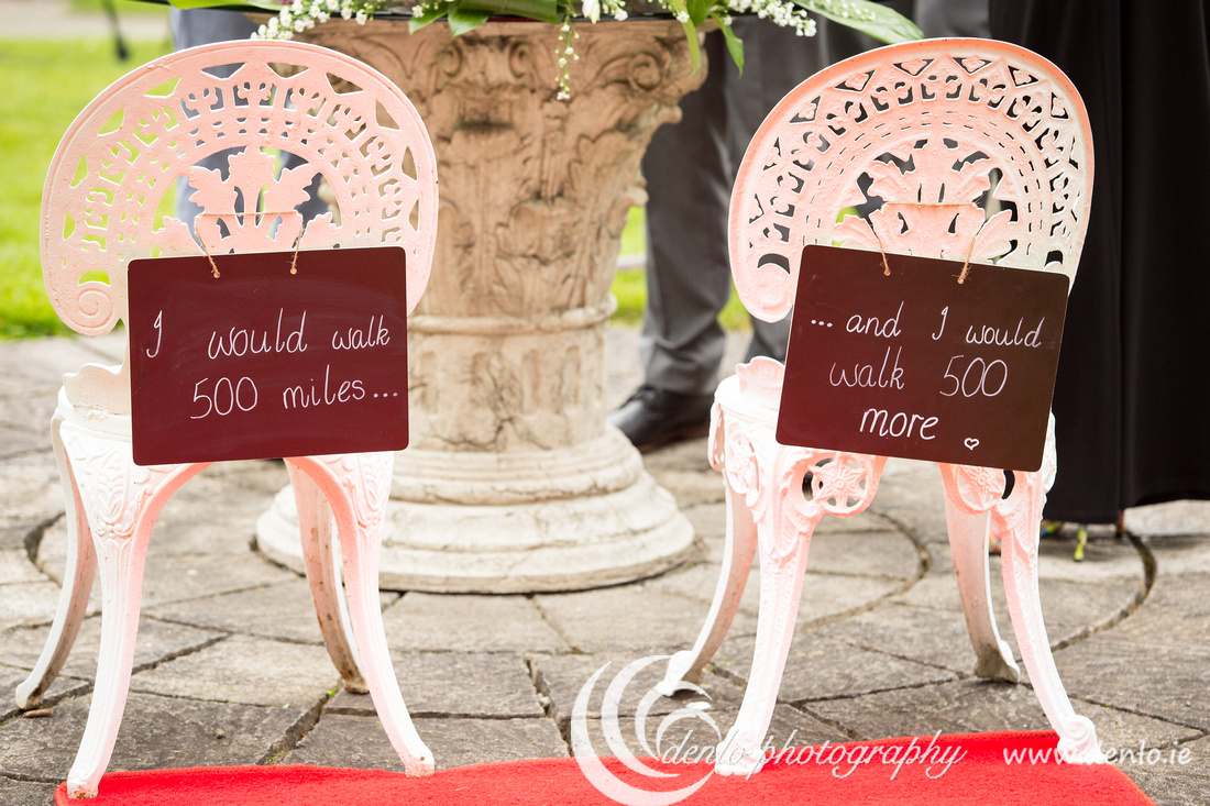 Ceremony chairs in Boyne Hill House