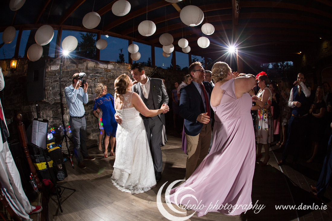 Bride and groom's first dance as a married couple at Boyne Hill House