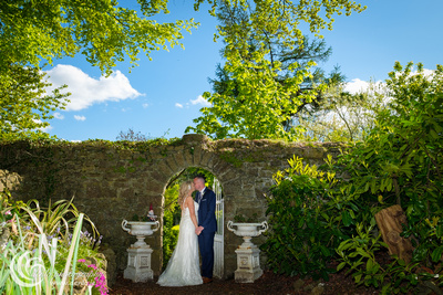 Knightsbrook Hotel wedding bride and groom-1596